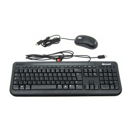 Teclado e Mouse Wired 400 USB Preto 5MH-00007 - Microsoft