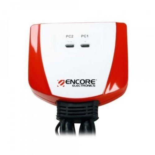 Adaptador KVM 2 Portas Com Cabo e Entrada USB (ENKVM-USBB) - Encore