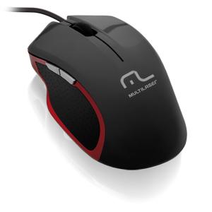Mouse XGamer 2400DPI USB Preto e Vermelho MO196 - Multilaser