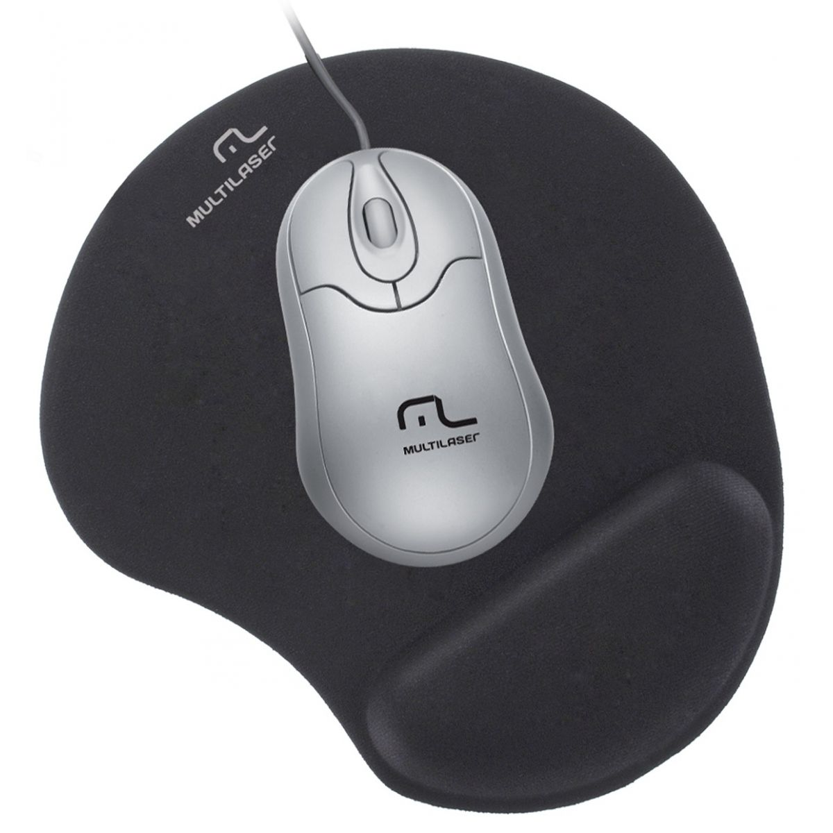 Mouse Pad Gel Normal Preto AC024 - Multilaser
