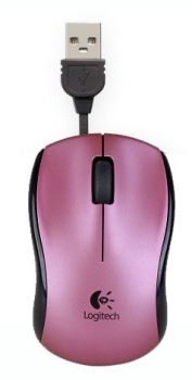 Mouse Optico Retratil USB M125 Rosa - Logitech