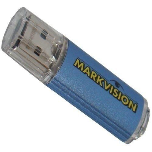 Pendrive 32GB USB 2.0 ALU-BLRTL.MV - Markvision