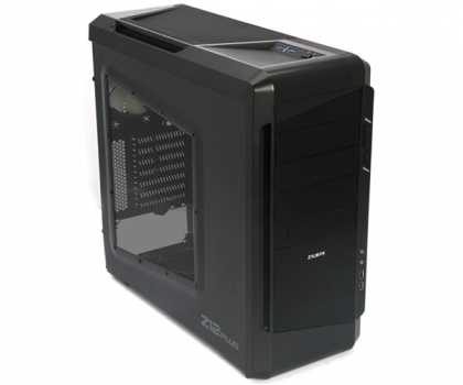 Gabinete ATX Z12 Plus Black Mid Tower USB 3.0 (c/ Acrílico) - Zalman