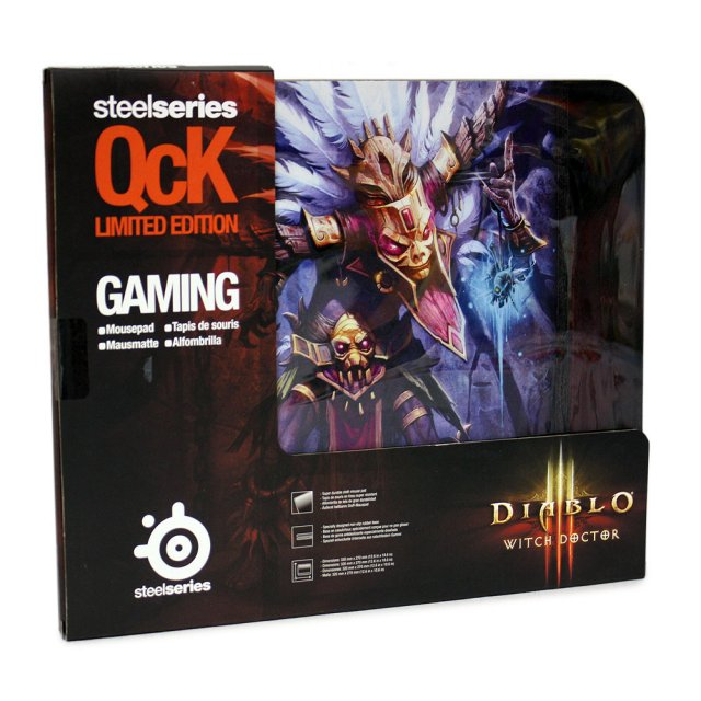 Mouse Pad QcK Edição Limitada DIABLO III Witch Doctor 67223 - Steelseries