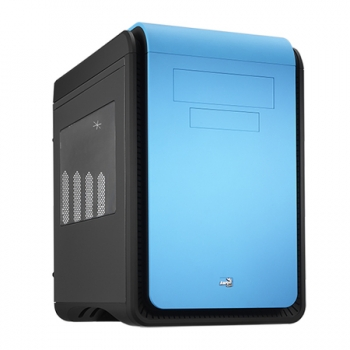 Gabinete DS Cube Blue Window Edition s/ Fonte EN52537 (Micro/Mini ATX) - Aerocool