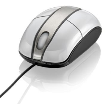 Mouse Steel Branco Piano USB MO134 - Multilaser