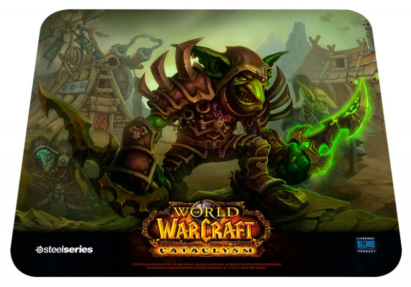 Mouse Pad QcK Edição Limitada World of Warcraft Cataclysm Goblin Edition 67209 - Steelseries