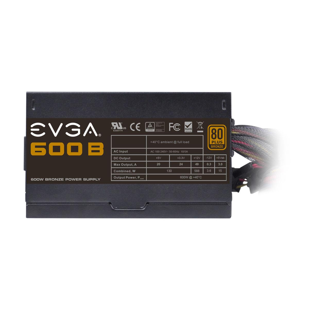 Fonte ATX 600W 80 Plus Bronze 100-B1-0600-KR - EVGA