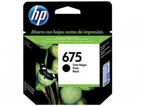 Cartucho De tinta CN690AL 675 Preto - HP