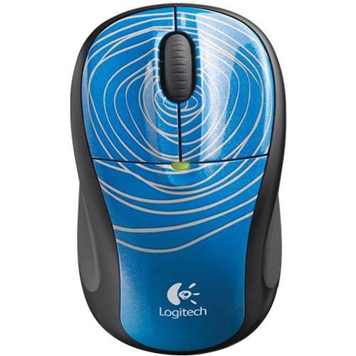 Mouse Otico Sem Fio USB M305 Blue Swirl - Logitech