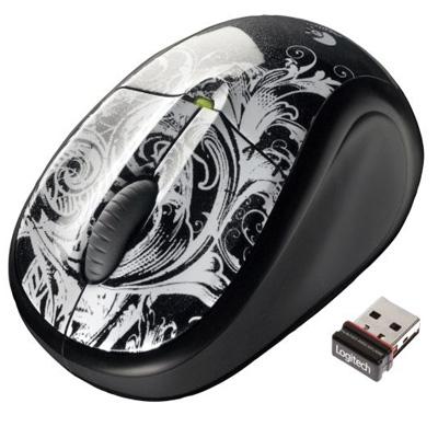 Mouse Ótico Sem Fio USB M305 Dark Fleur - Logitech
