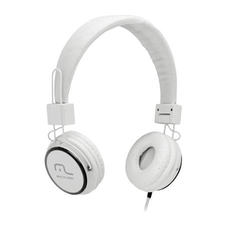 Fone de Ouvido Head Fun com Microfone P2 3,5mm Hi-Fi PH087 Branco - Multilaser