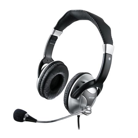 Headphone Haste Flexivel Microfone Metal Preto / Prata PH031 - Multilaser