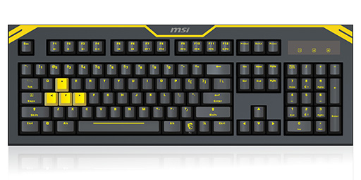 Teclado GK-601 Mechanical Gaming Preto/Amarelo - MSI