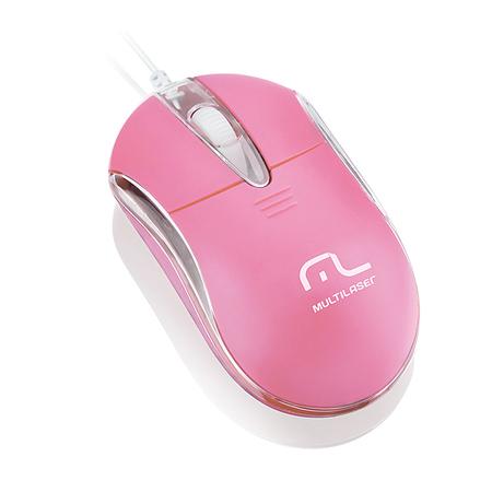 Mouse Óptico USB Classic 2 Rosa MO170 - Multilaser