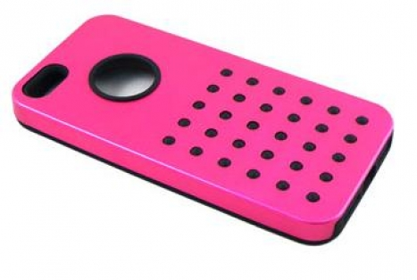 Capa para IPHONE 5 de silicone Metal Cor Rosa 3195 - Leadership