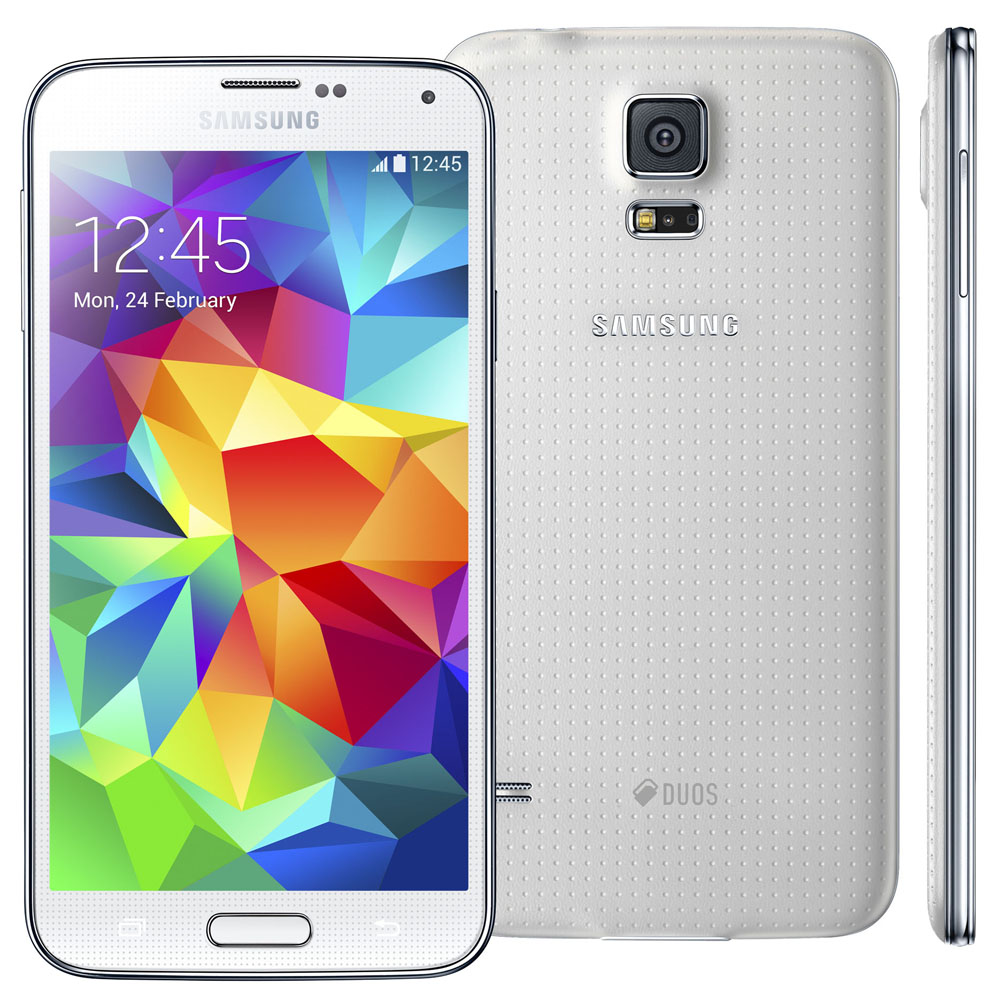 Smartphone Galaxy S5 com Android 4.4, Dual Chip,Quad Core 2.5 Ghz e C�mera de 16MP com Flash Branco LED G900MD - Samsung