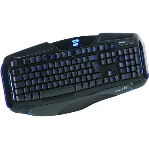 Teclado Gamer Cobra II USB Preto/Azul 52188 - E-BLUE