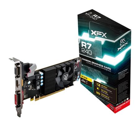 Placa de Vídeo ATI R7 240 2GB DDR3 128Bit Perfil Baixo R7-240A-CLF2 - XFX