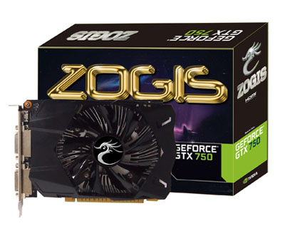 Placa de Vídeo GeForce GTX750 1GB DDR5 128Bits ZOGTX750-1GD5 - Zogis