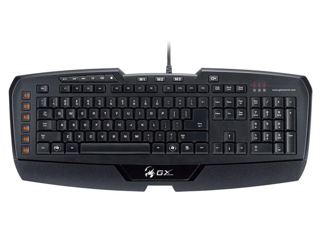 Teclado GX Gaming Imperator MMO/RTS 18 Program USB 31310052110 - Genius