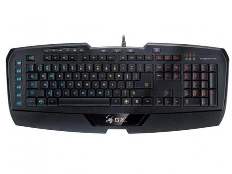 Teclado GX Gaming Imperator Professional MMO/RTS Iluminado USB 18 Pro 31310053110 - Genius