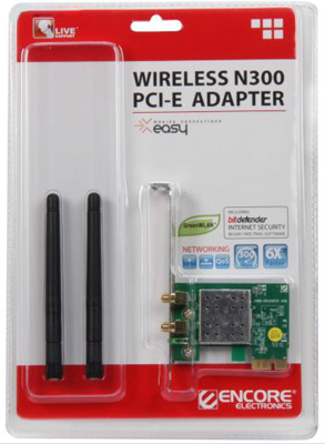 Placa de Rede PCI-E ENEWI-2XN42 300Mbps - Encore