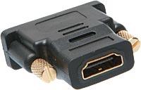 Adaptador DVI (Macho) x HDMI (Fêmea) com 24+1 pinos AD0270 - OEM