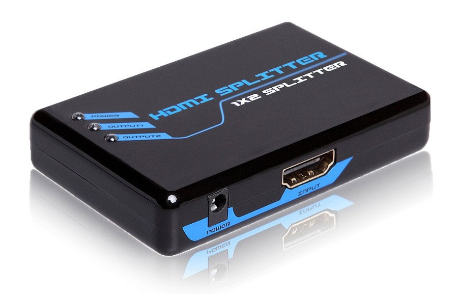 Conversor de 1 entrada HDMI para 2 sa�das HDMI Padr�o 1.4 (Splitter) - G.C