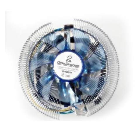 Cooler P/CPU Led Azul CP-M35 Intel LGA 775,1155,1156/AMD 754,939,940,AM2,AM2+,AM3 - Gelo Dragon