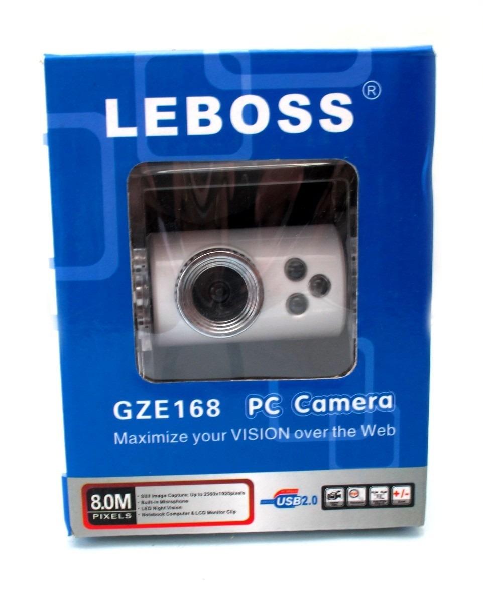 Webcam GZE168 Branca Com Leds A2613 - Leboss