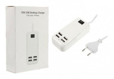 Carregador USB de Tomada 4 Portas AD0212 Biv 15W - Boyu