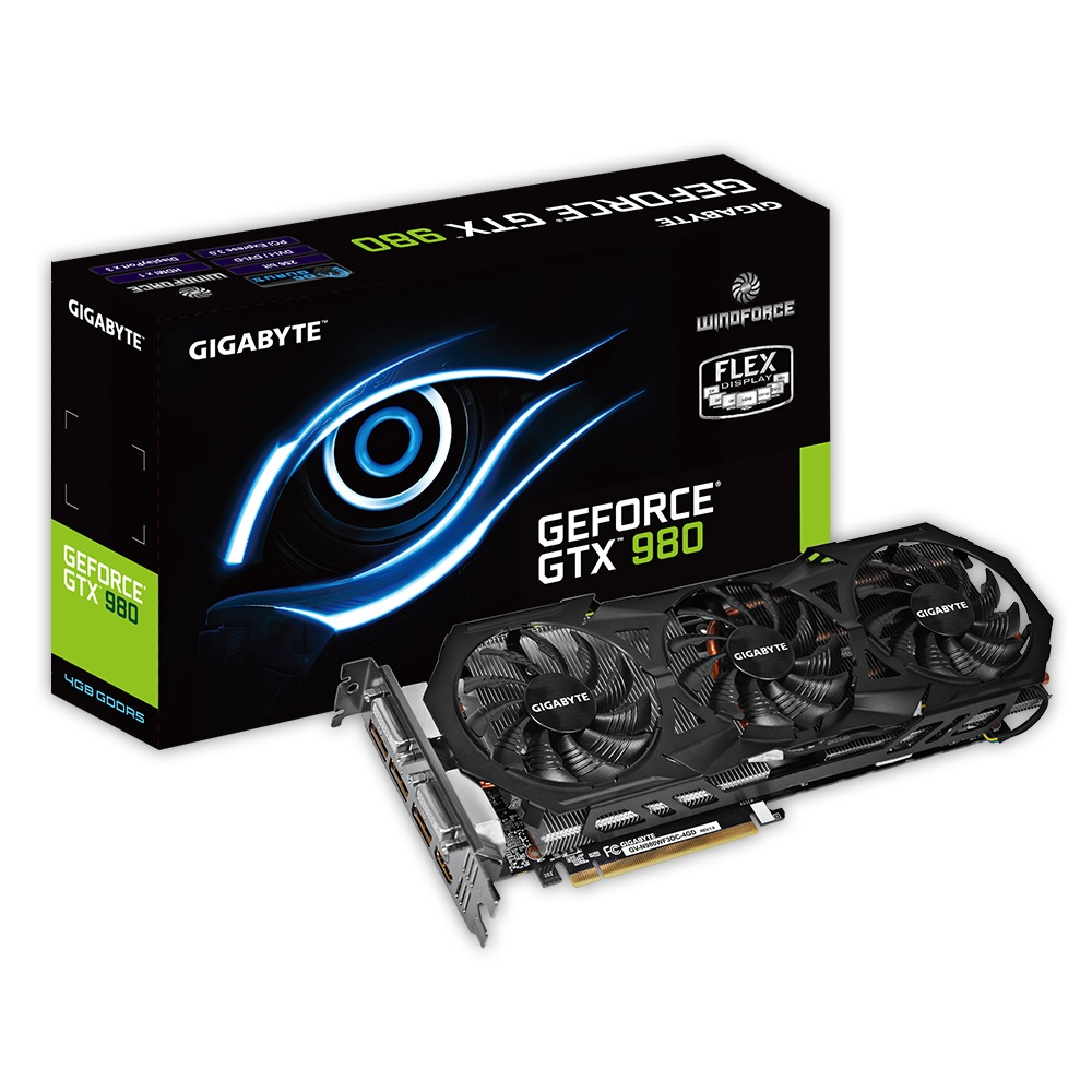 Placa de Vídeo Geforce GTX980 4GB DDR5 256Bit GV-N980WF3OC-4GD - Gigabyte