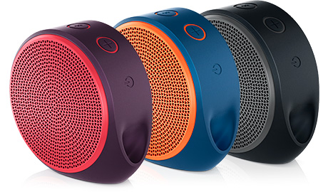 Saldão!!! Caixa de Som Bluetooth X100 Vermelha / Roxo 984-000389 - Logitech