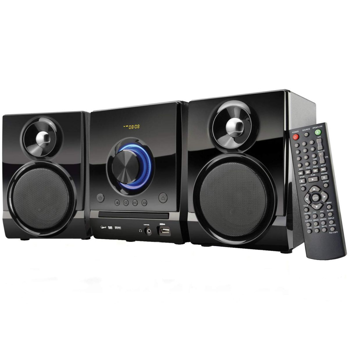 Caixa de Som Mini System com DVD Player/USB/FM/Karaokê 40W RMS Preto SP156 - Multilaser
