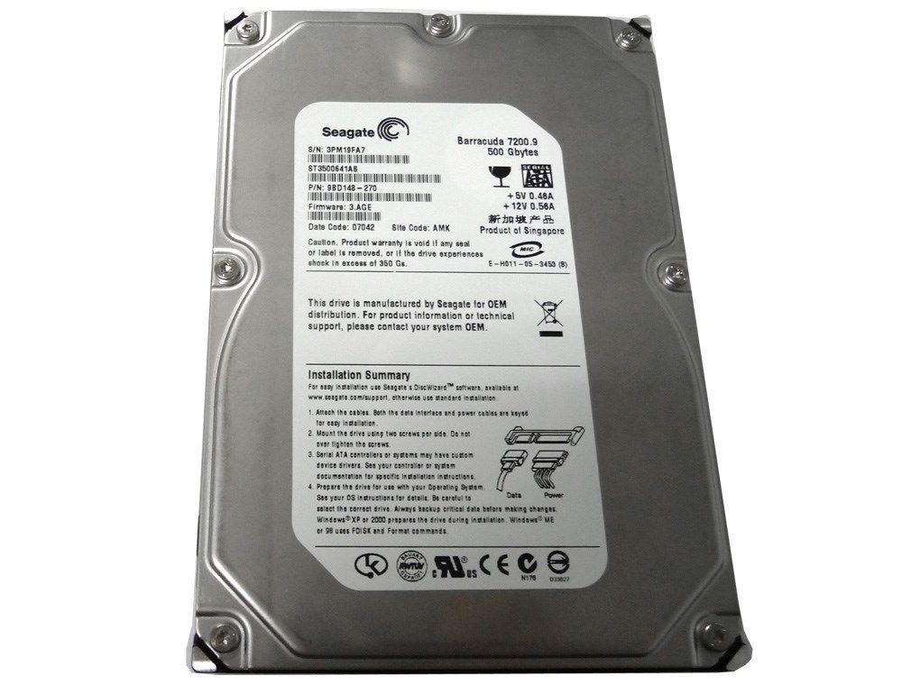 Hard Disk 500GB 7200RPM 16MB Sata II ST3500641AS - Seagate
