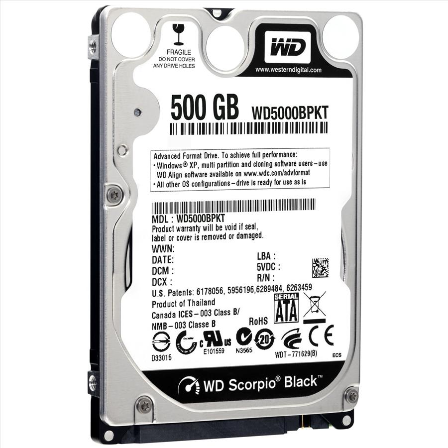 Hard Disk para Notebook 500GB Sata II 5400RPM WD5000BPKT-00PK4T0 - Western digital