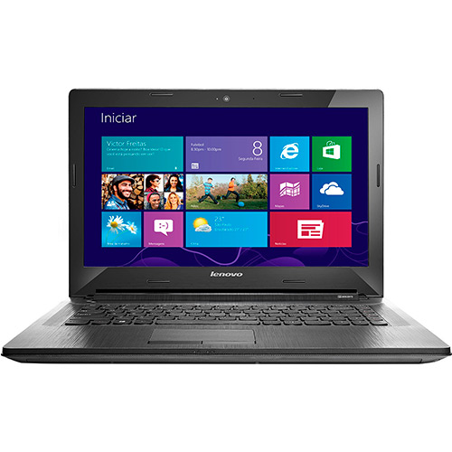 Notebook G40-70 80GA000HBR Intel Core i3 Memória 4GB HD 500GB Tela 14 Bluetooth Windows 8.1 Prata - Lenovo