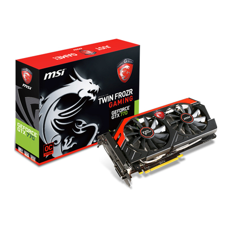 Placa de V�deo Geforce GTX770 Twin Frozr Gaming 2GB DDR5 256Bits N770 TF 2GD5/OC - MSI