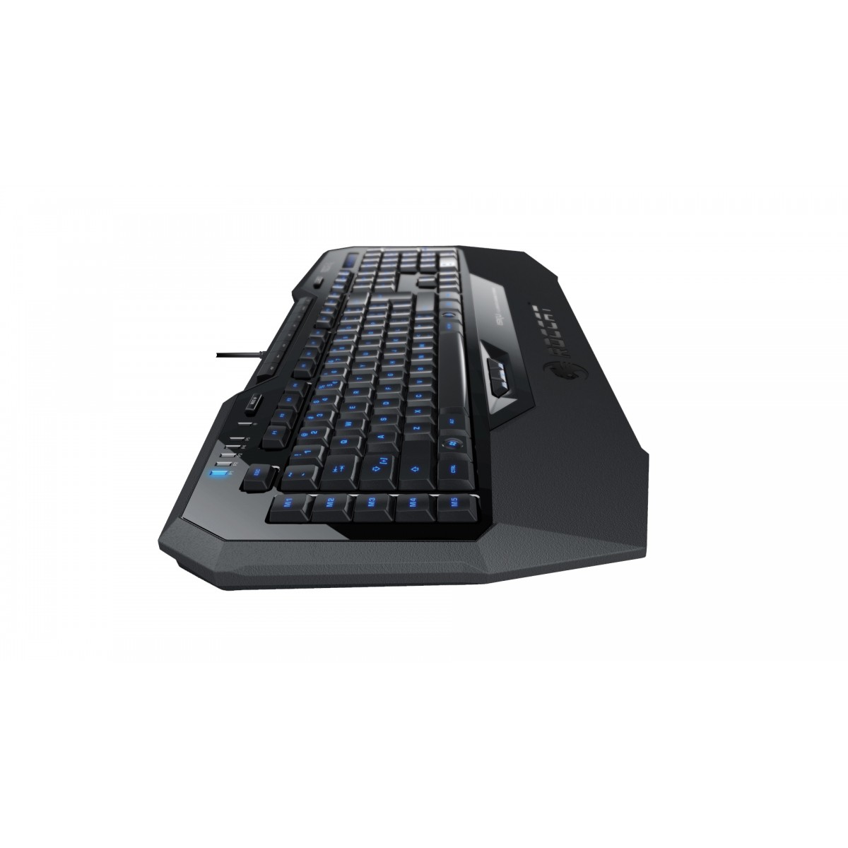 Teclado Gamer Multimidia ISKU LED Azul ROC-12-721 Preto - Roccat