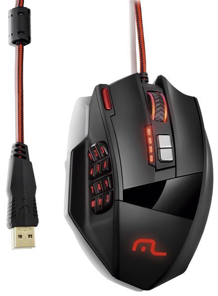 Mouse Laser 18 botões 4000dpi Preto USB MO206 - Multilaser