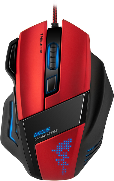 Mouse Gaming DECUS SL-6397-BK Vermelho - Speedlink