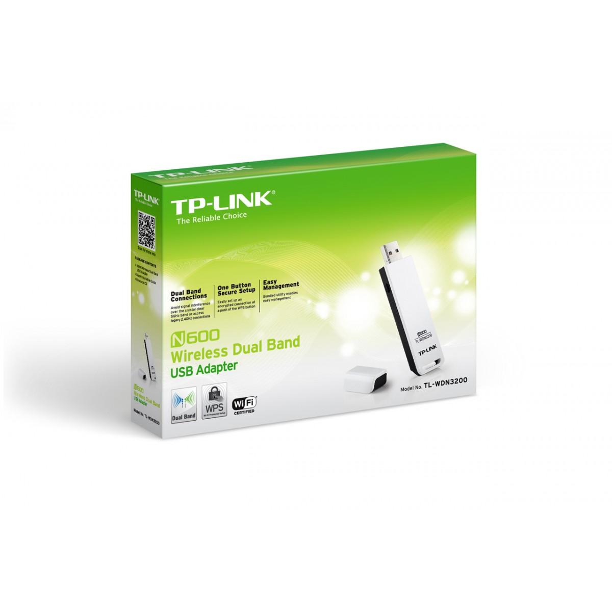 Adaptador USB 300Mbps Dual Band TL-WDN3200 - Tplink