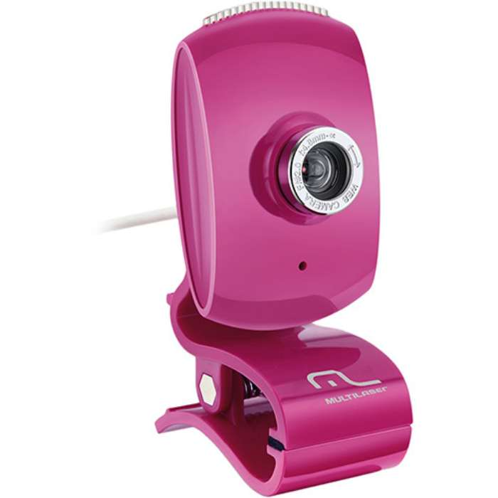 Webcam Facelook Rosa WC048 - Multilaser