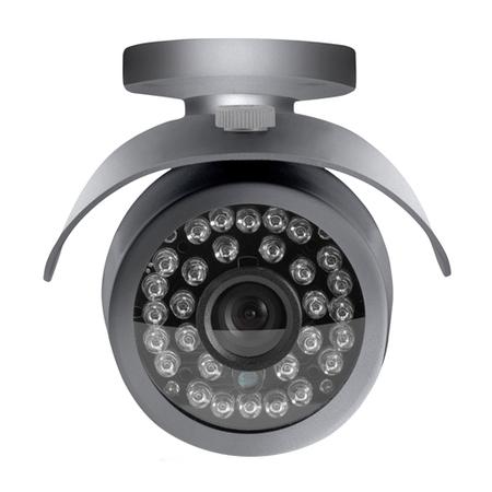 Câmera Externa Sensor Sony CCD 1/3? Infravermelho 25m Anti Vandalismo SE007 Cinza - Multilaser