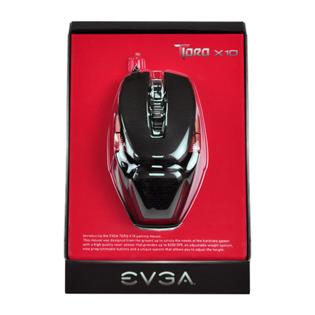 Mouse Gamer Laser 9 Botões 8200dpi LED USB 901-X1-1103-KR Torq X10 - EVGA