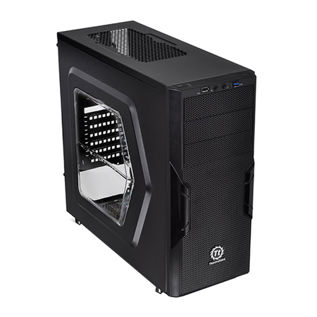 Gabinete ATX Versa H22 Window USB 3.0 CA-1B3-00M1WN-00 Black - Thermaltake