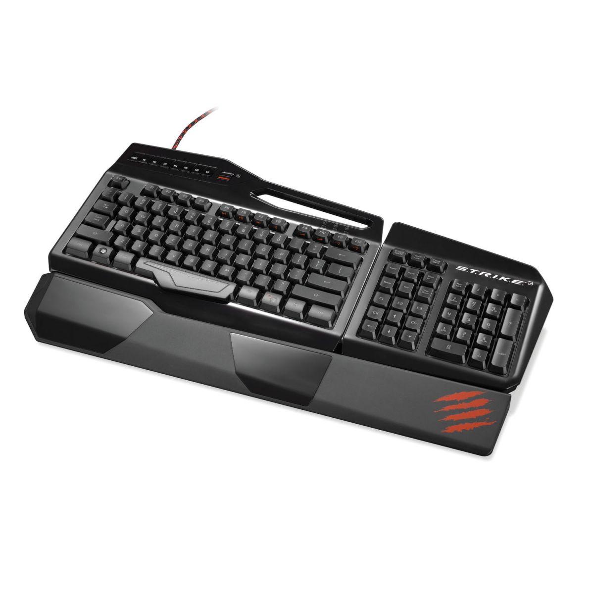 Teclado Gaming S.T.R.I.K.E 3 Gloss Black MCB43112N0C2 - Mad Catz