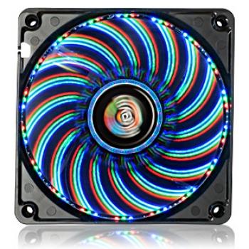 Cooler T.B. Vegas Trio com LED 03 Cores (Vermelho/Azul/Verde) 12CM UCTV12P - Enermax