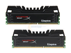 Memória Hyper X Beast 8GB 2x4GB 1866MHz DDR3 CL9 KHX18C9T3K2/8X - Kingston